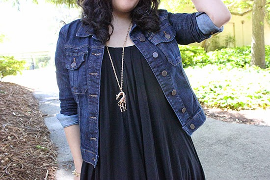 LE TOTE Denim Jacket x Lily for Target Giraffe Necklace