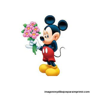 Mickey enamorado para imprimir