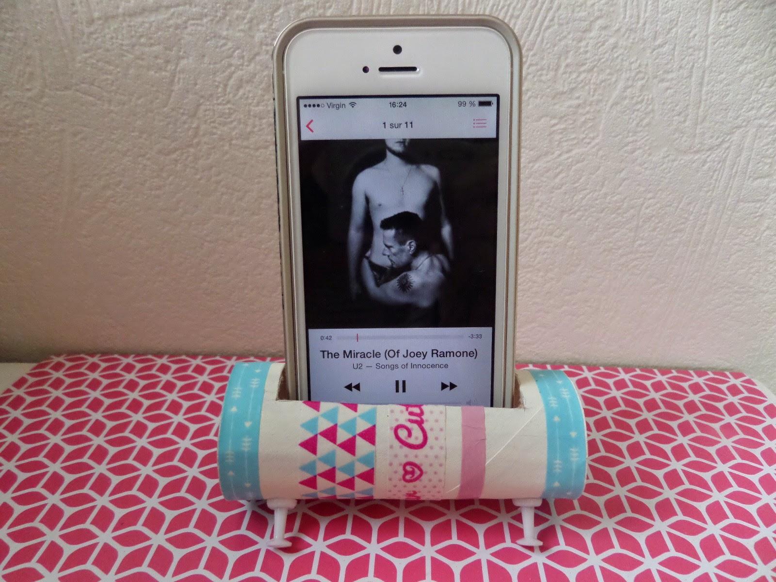 La licorne blonde diy des enceintes pour portable pour presque rien bonus - Papier toilette licorne ...