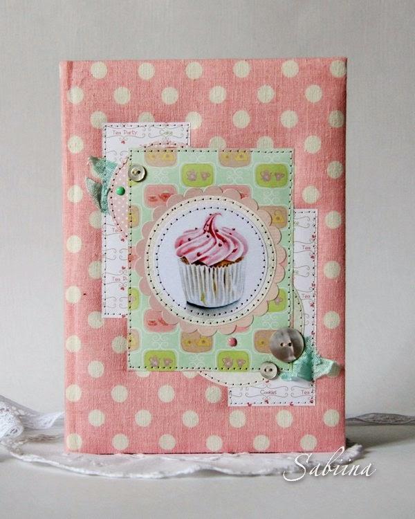 Книга кондитера, кулинарная книга сладостей, книга записи рецептов, подарки и сувениры ручной работы, своими руками, hande made, нежная пастельная гамма, блокнот в горошки, шебби