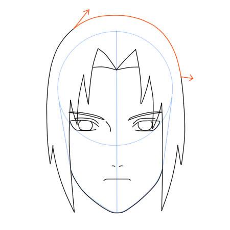 Como dibujar a Sasuke Uchiha (Shippuden) Paso a paso – Dibujanime!