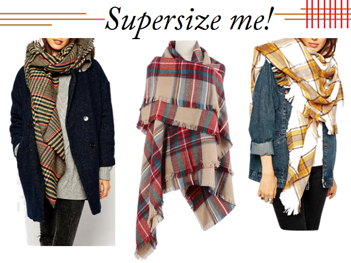 Zara Blanket Scarf, Zara Blanket Scarf Lookalike, Oversized Plaid Scarves, Wool Blanket Scarf, Plaid Blanket Scarf