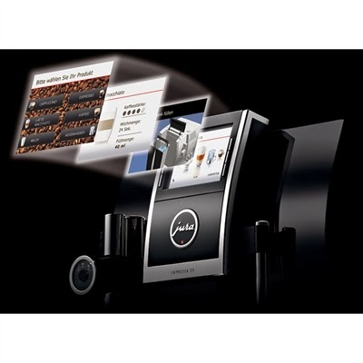 Jura Impressa Z9 Espresso Machine Frontal View of Full-Color TFT Display