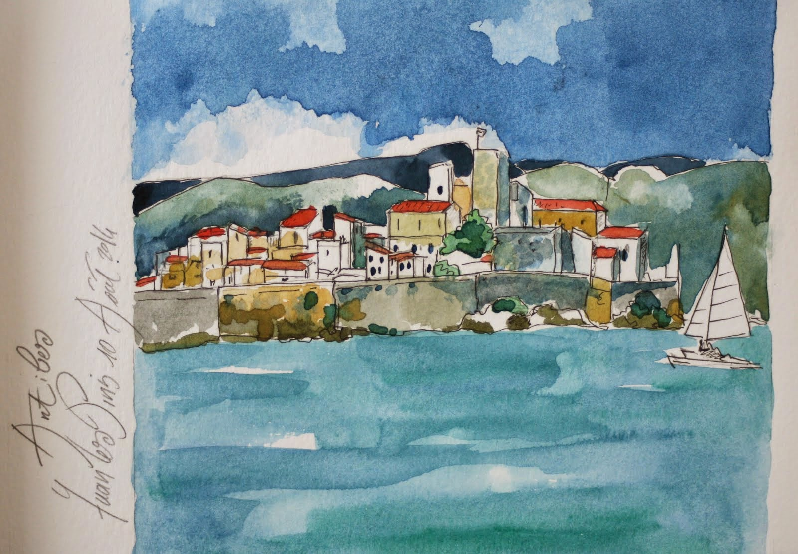 Carnet de voyage, Antibes