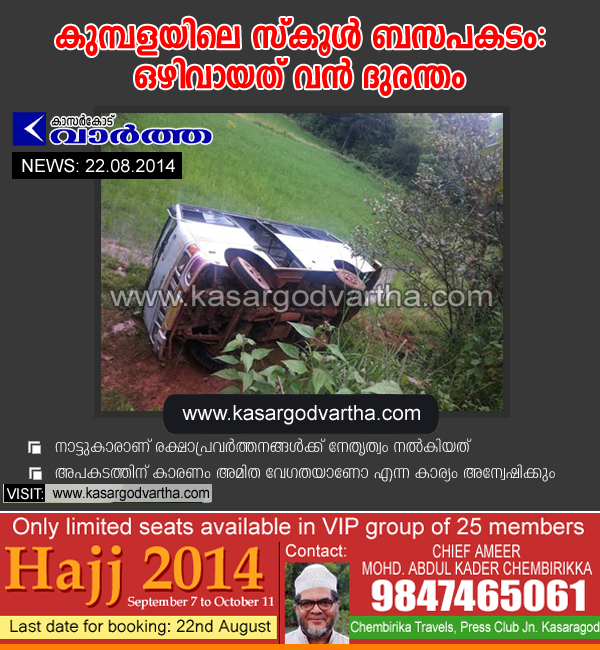 Kumbala, Bus, Accident, Injured, Hospital, School, Kasaragod, Kerala, 27