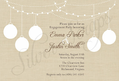 rustic garden party invitation