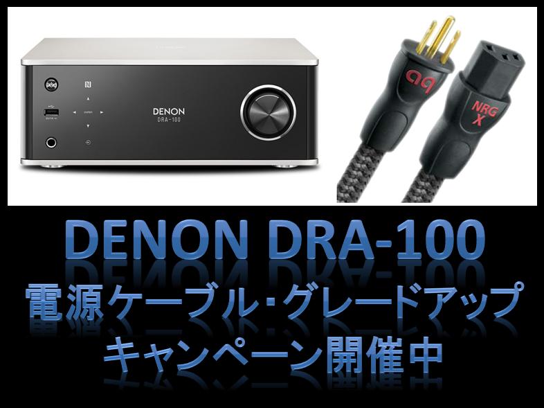 DENON『DRA-100』を買って、audioquestの電源ケーブルを手に入れよう。
