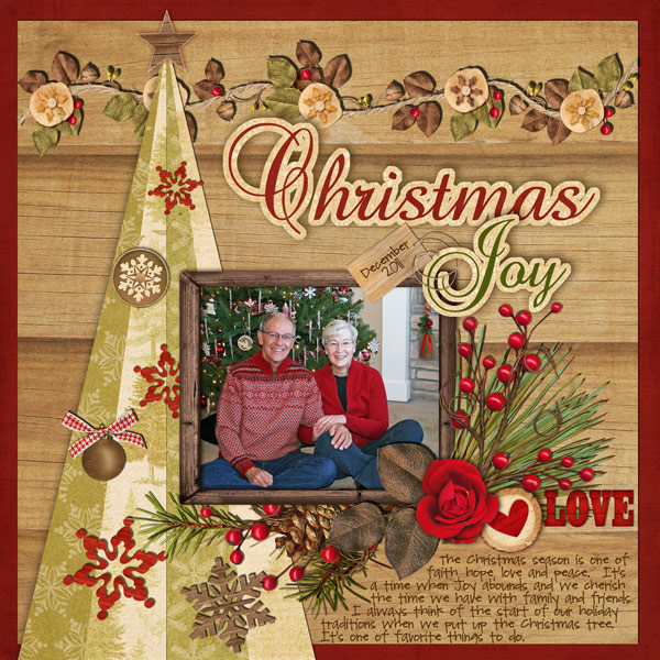 Ideas for scrapbookers a striped christmas tree template for Christmas layout ideas