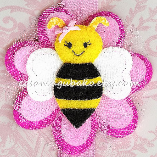 Felt Bee Headband by Casa Magubako