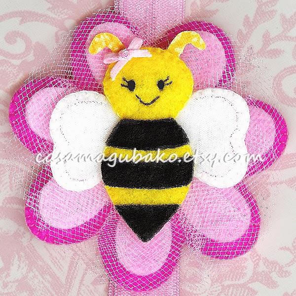 Felt Bee Headband by Casa Magubako