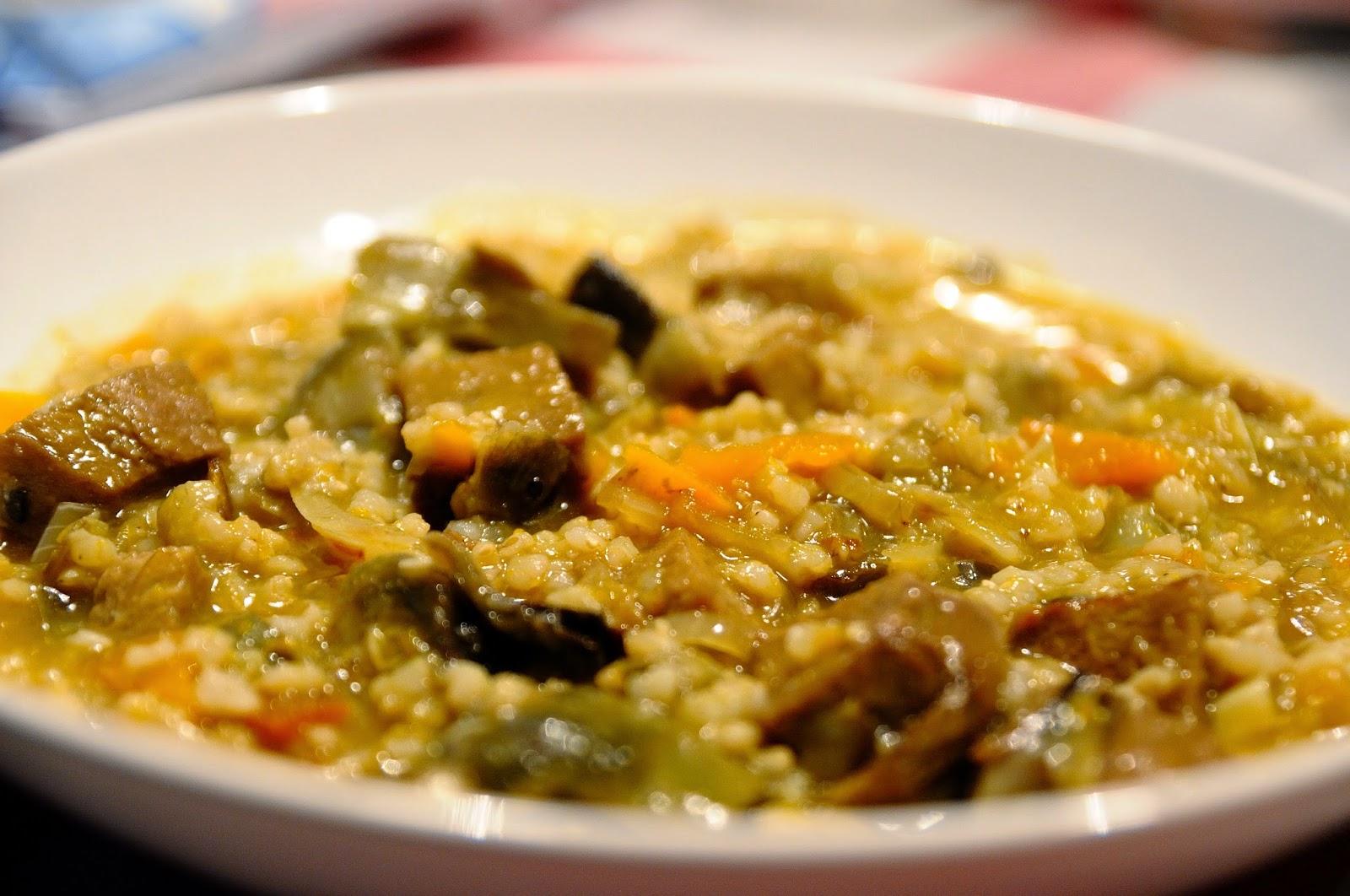 Arroz meloso con alcachofas y seit n cocinar para nutrir for Cocinar seitan