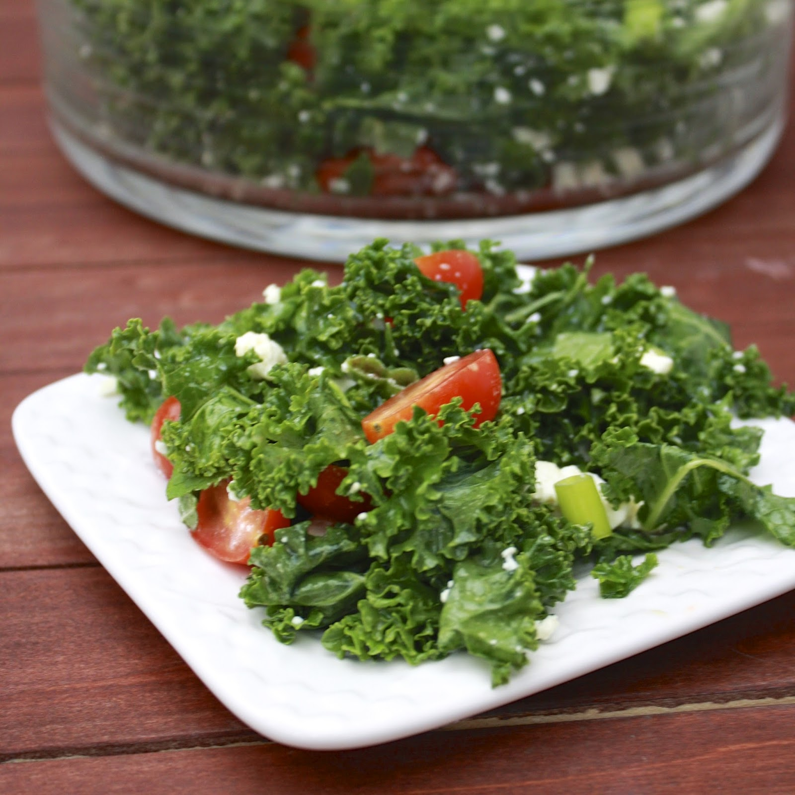 Kale and Tomato Salad with Feta and Mint | The Sweets Life
