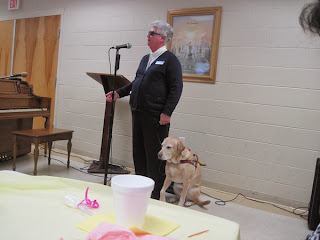 Audrey speaks at Fort Johnson Baptist Church