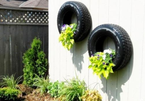 Reciclagem e Sucata Como usar pneus velhos na decoração do jardim