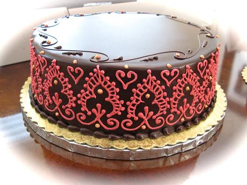 Mehndi Inspired Cake : Amet liwat mehndi cake stencils