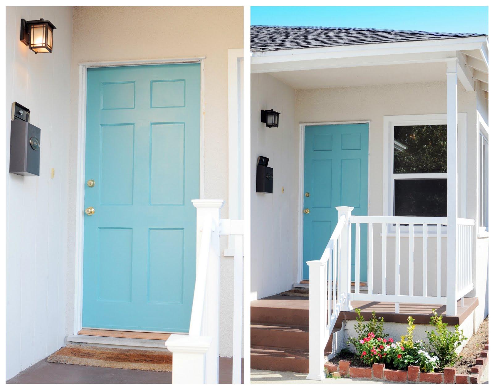 Quaintly garcia teal front door for Teal front door