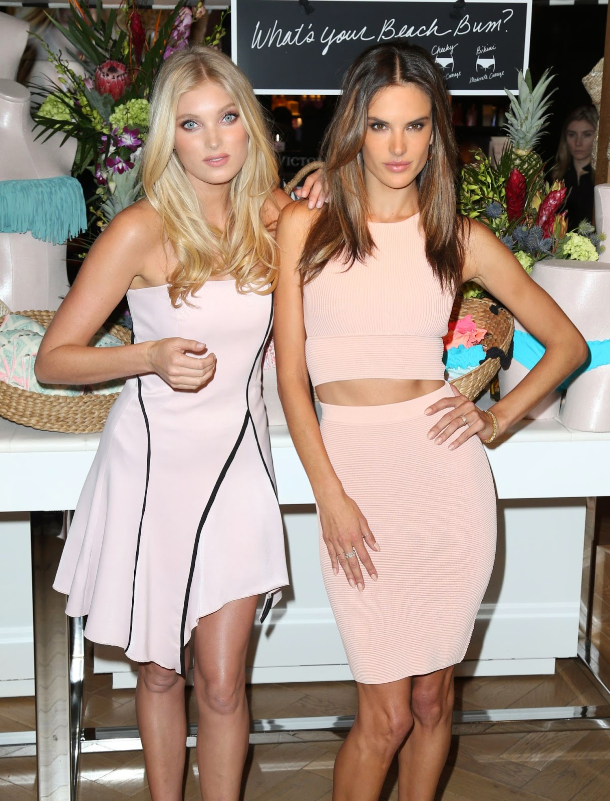 Model: Alessandra Ambrosio and Elsa Hosk at Victoria's Secret Spring Event in NYC