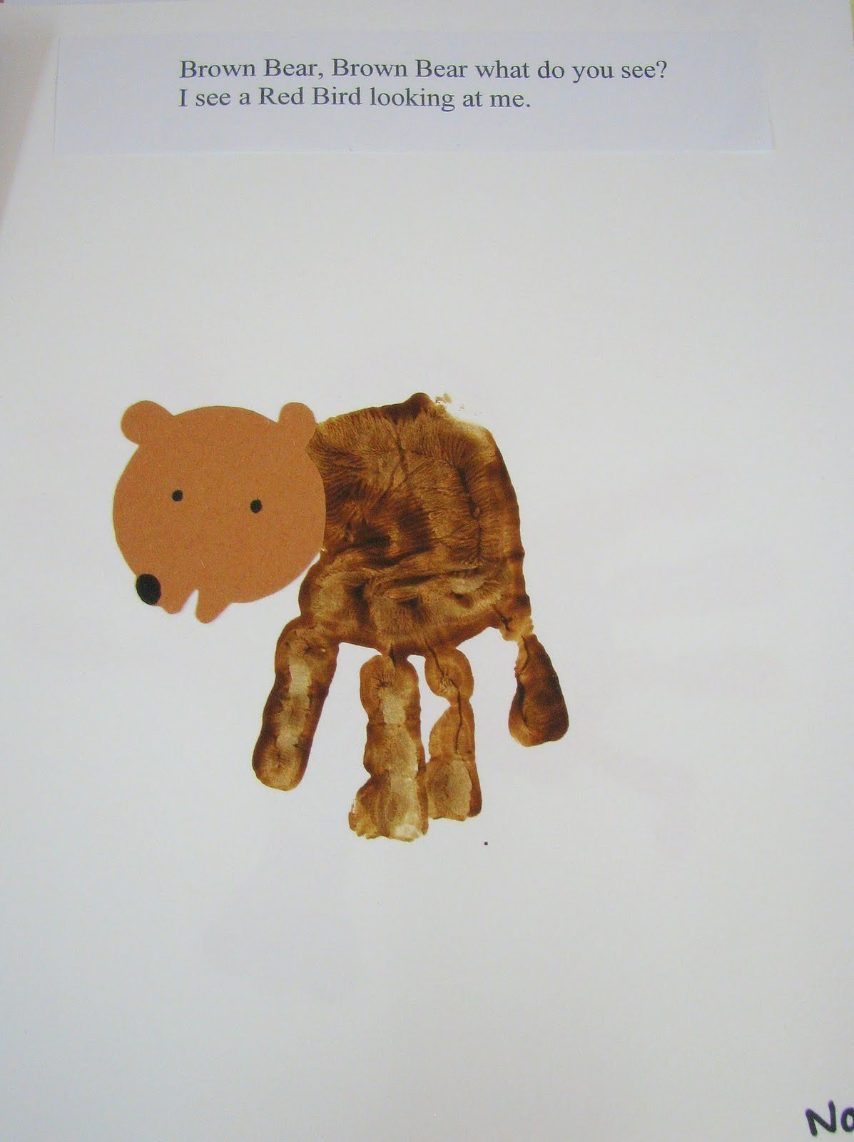 Preschool Ideas For 2 Year Olds Brown Bear Hand Print Book