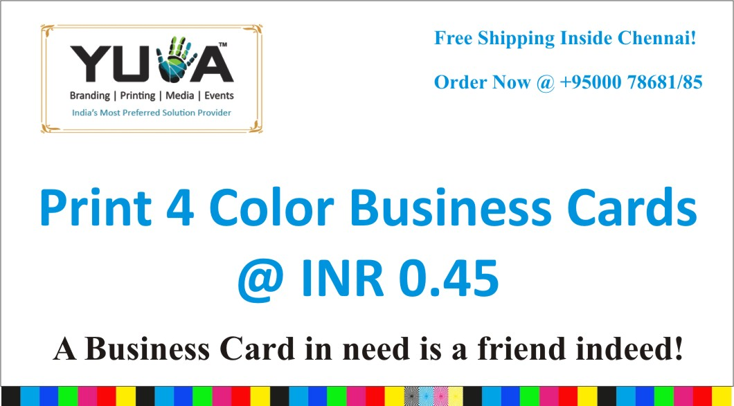Business Cards@ Lowest Price in Chennai!! - Yuva