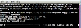 Downloading with 'wget' in Lubuntu