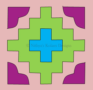 Heart Kolam  dots 8 x 8