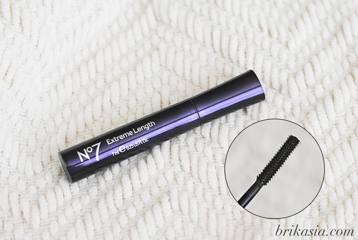 boots no. 7 extreme length mascara review, swatch, affordable mascara