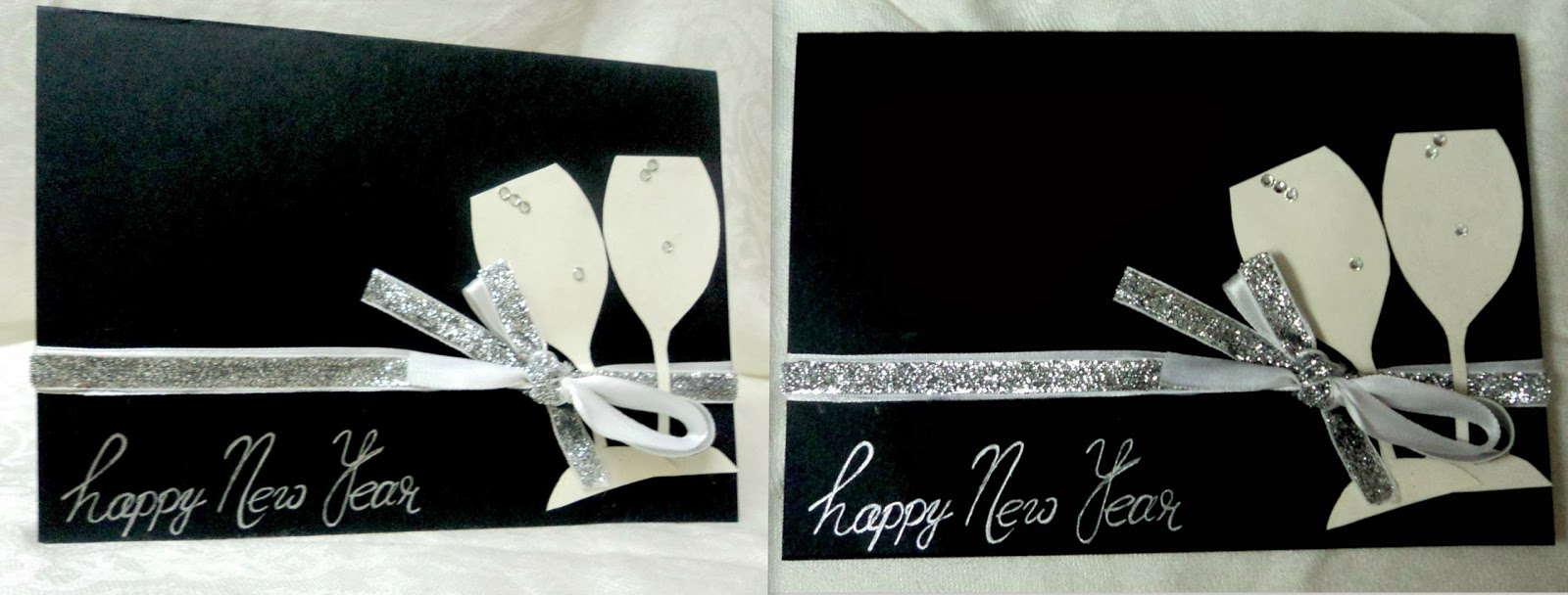 cheers to the new year with this classy new year card