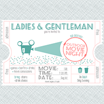 Customizable Movie Night Invitations for The Happier Homemaker