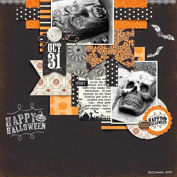 Layout by Erin Kit-Fright by sweet caroline studio