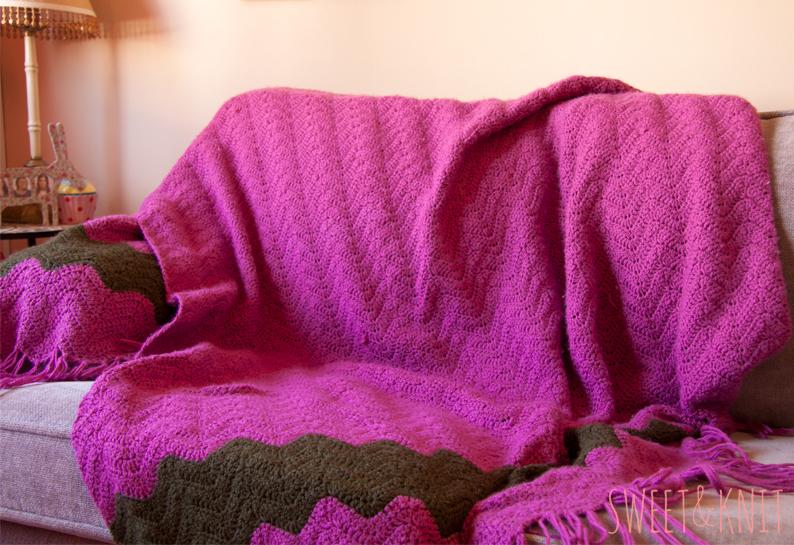 SusiMiu | Manta Crochet Ripple Blanket