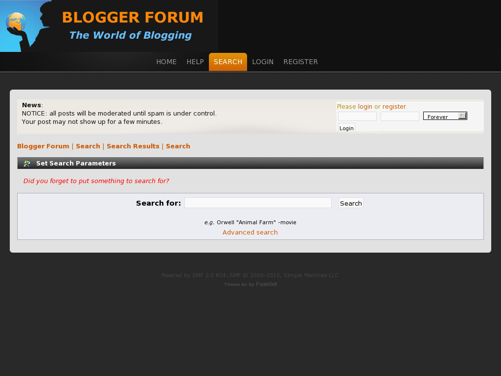 Guidance Create A Forum For Blogger