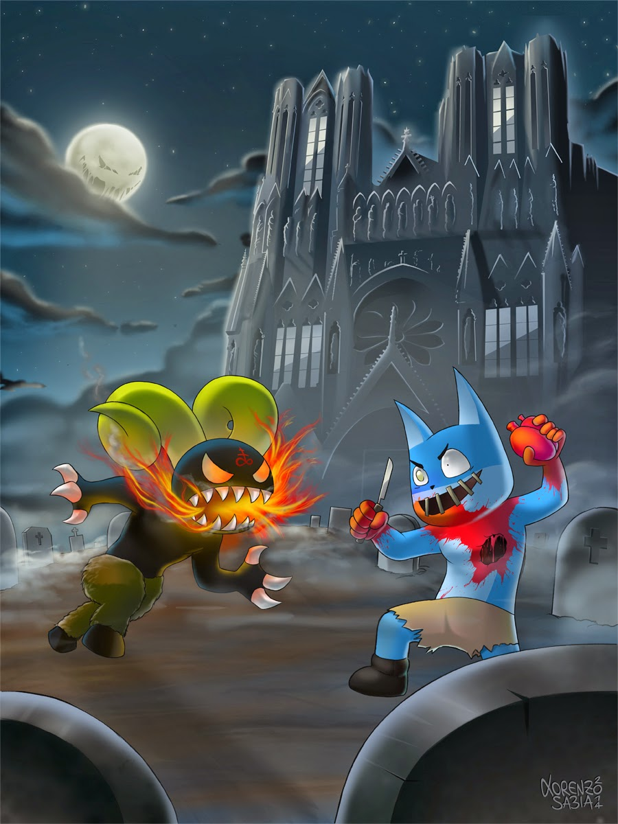 Brimstone Vs Heartbreaker Cat by Lorenzo Sabia