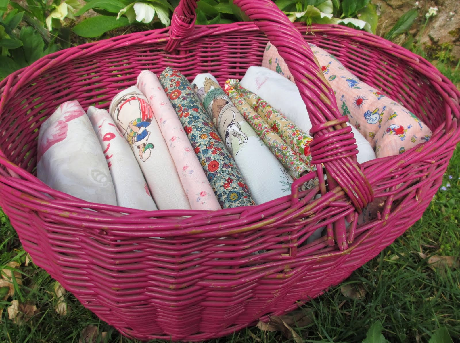 Vintage Textiles for sale in the Washerwoman's etsy shop