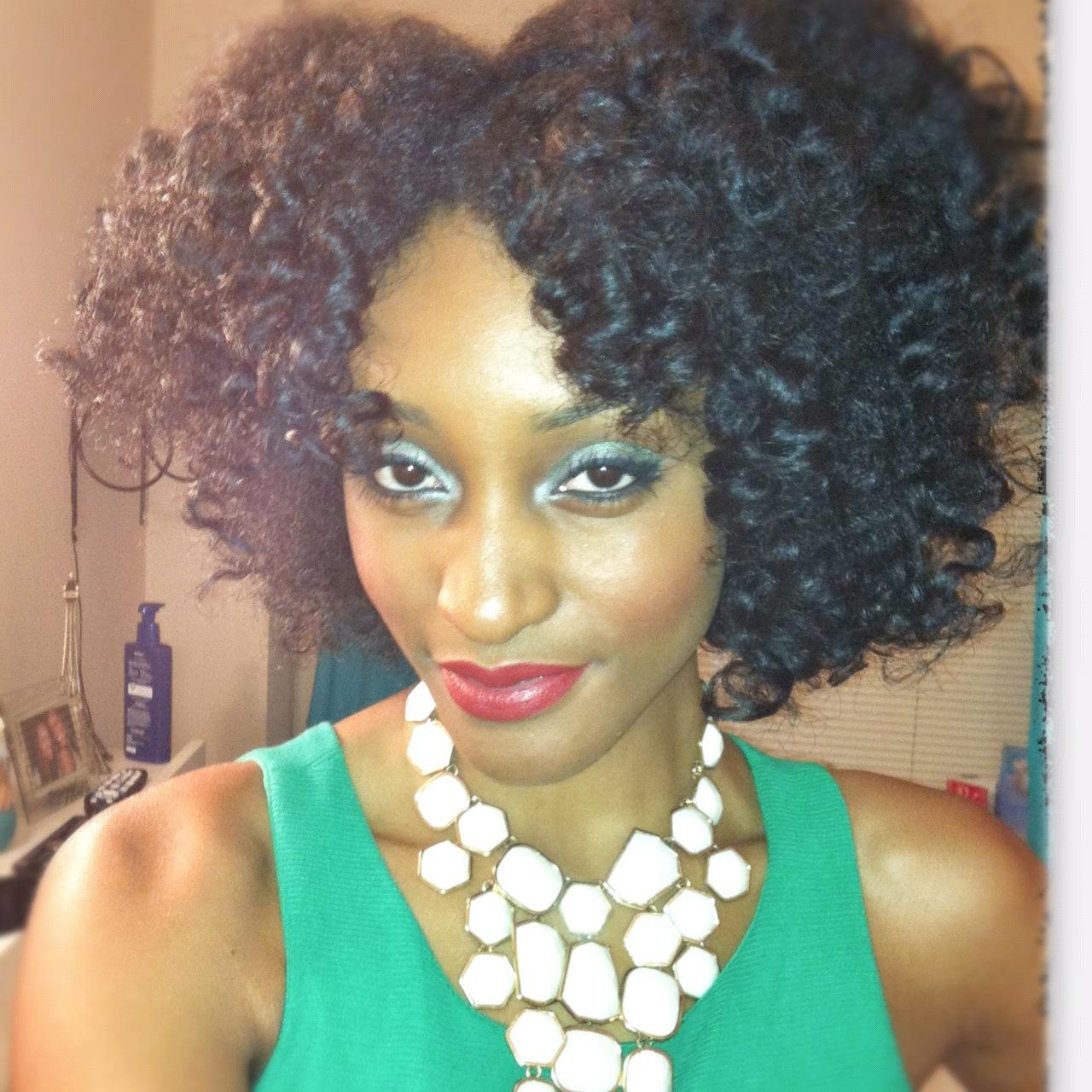 Bantu knot tutorial on dry hair