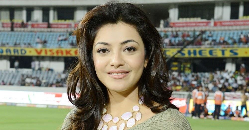 Cute Kajal Agarwal at CCL Matches   Actresses HQ Pics