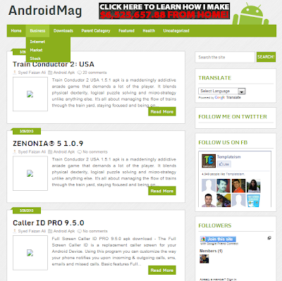 Android Mag Free Responsive Blogger Template