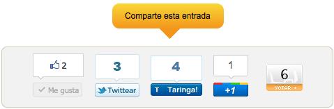 Botones para compartir redes sociales