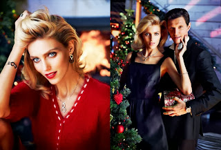 Anja Rubik & Sasha Knezevic Beautiful Photoshoot For Apart Christmas 2013
