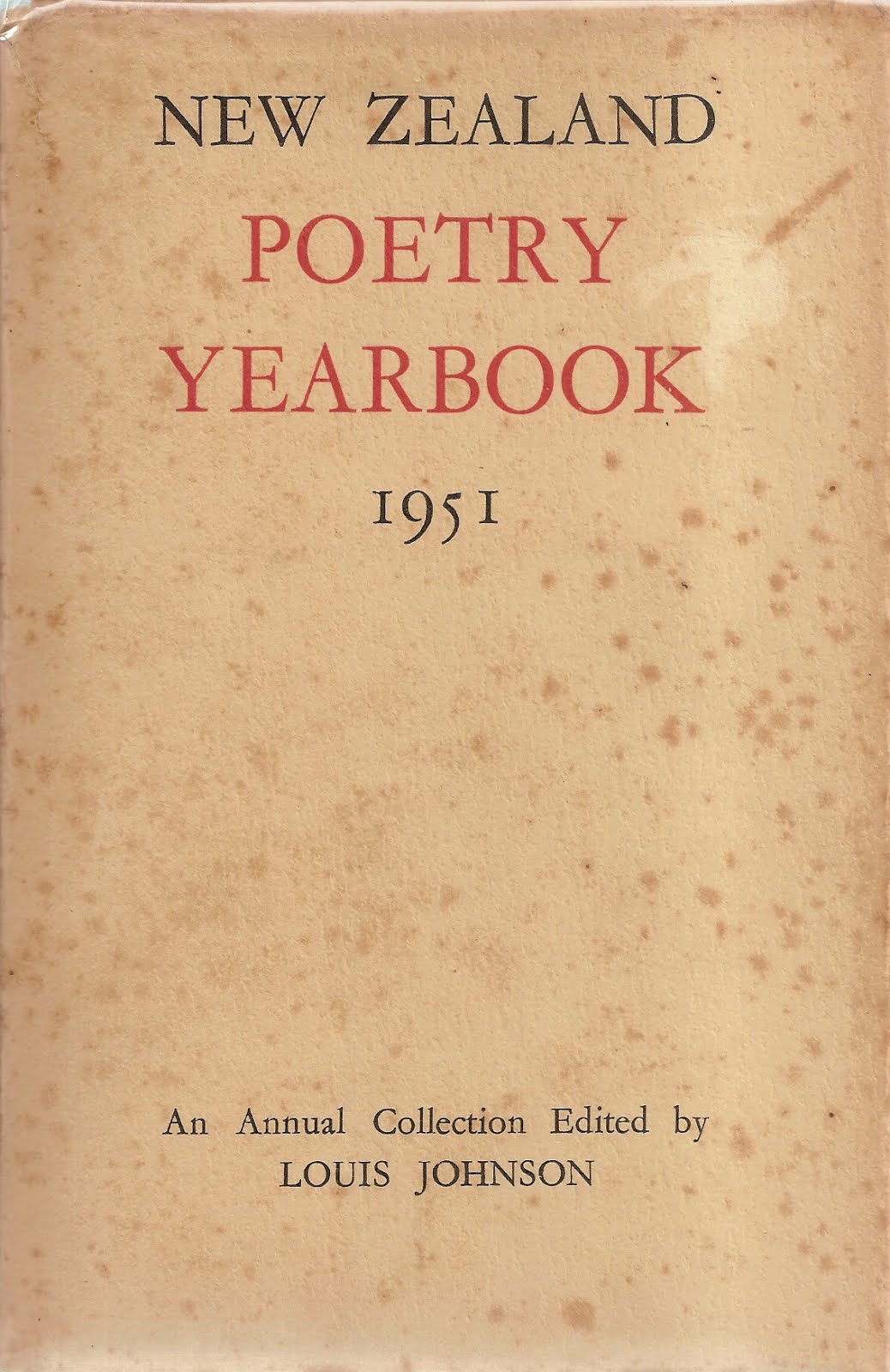 NZ Poetry Yearbook 1 (1951)