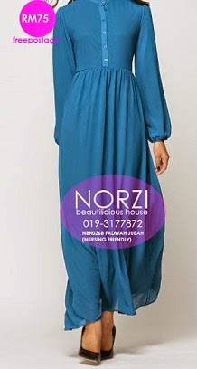 NBH0268 FADWAH JUBAH DRESS (NURSING FRIENDLY)