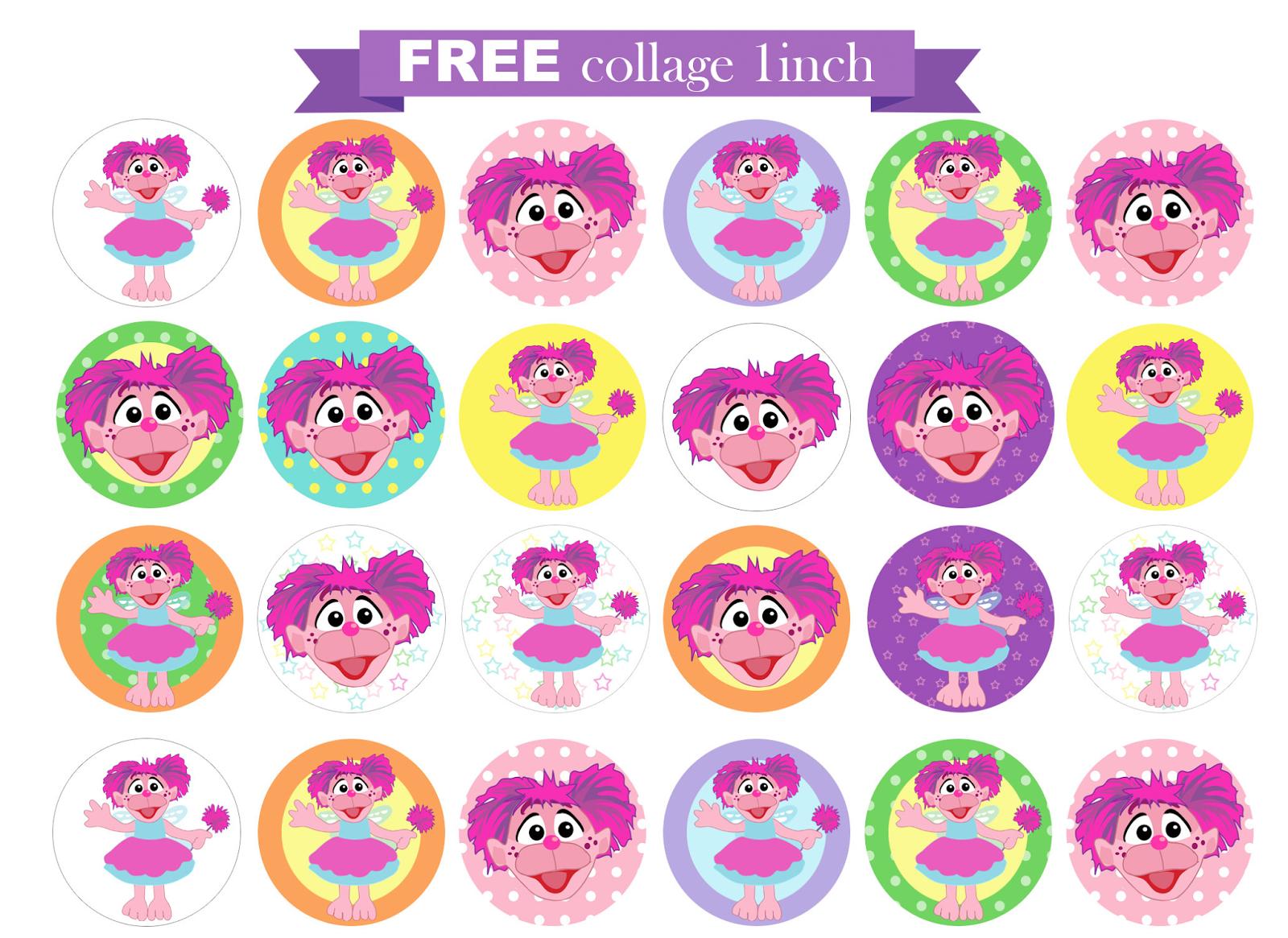 free printable invitation Abby Cadabby FREE collage circle – Abby Cadabby Birthday Invitations