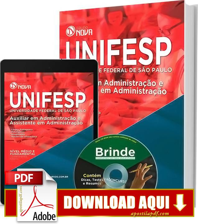 Apostila UNIFESP Assistente em Administração PDF Download Grátis