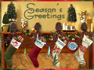 image Lures and Tours 2012 Christmas card created by Charie Ross