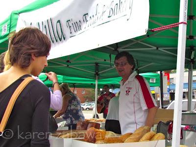 La Villa bakery  farmers market stall, Port Credit ON.