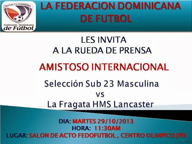 Rueda de Prensa amistoso internacional Selección Masculina Sub 23