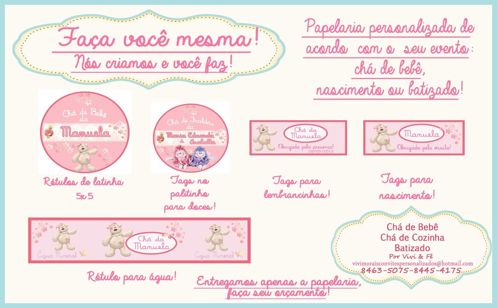 Super Chá & Chás - por Vivi & Fê: Papelaria para seu bebê! RM74