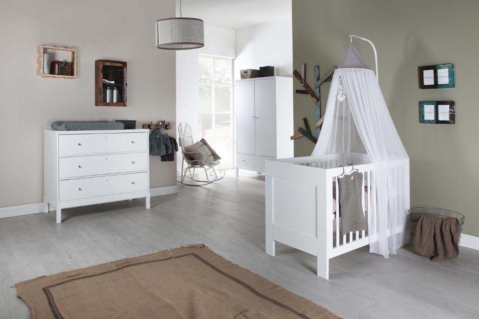 Habitaciones con estilo habitaciones de beb s con paredes - Habitaciones color gris ...