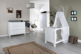 habitación color gris bebé
