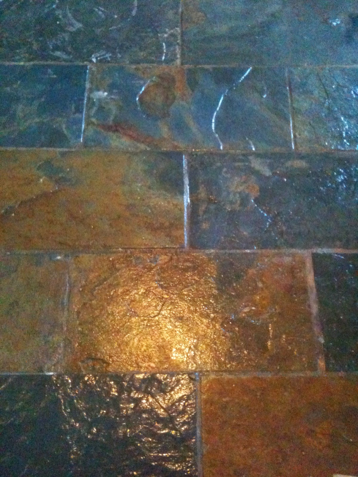 Slate flooring is easy to lay #renovations #diy #lifeonpigrow
