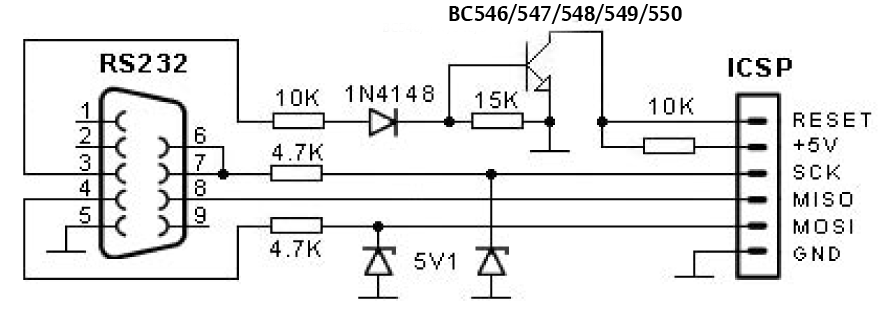 universal pic programmer schematic: Embedded engineering avr serial port programmer